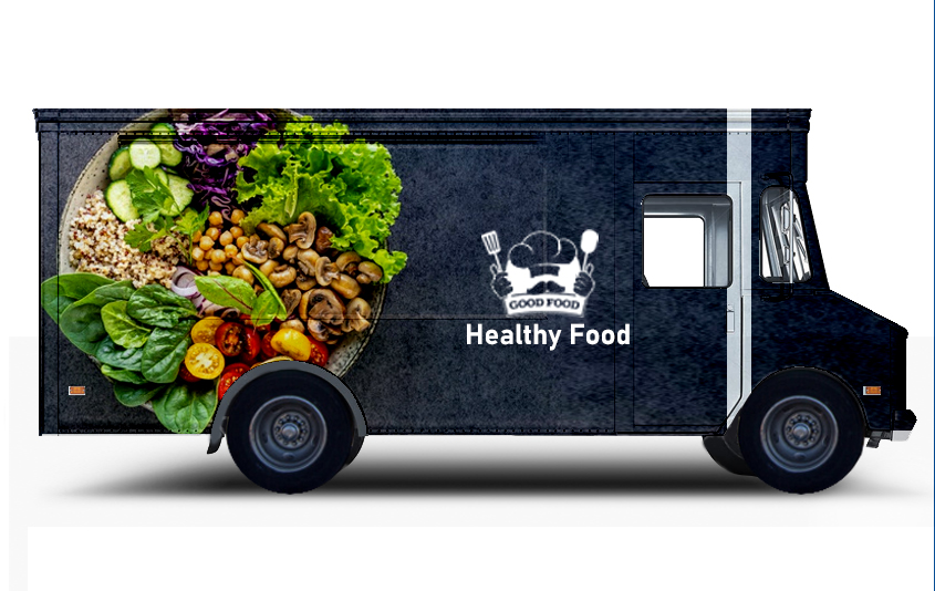Colored Food Truck Wraps