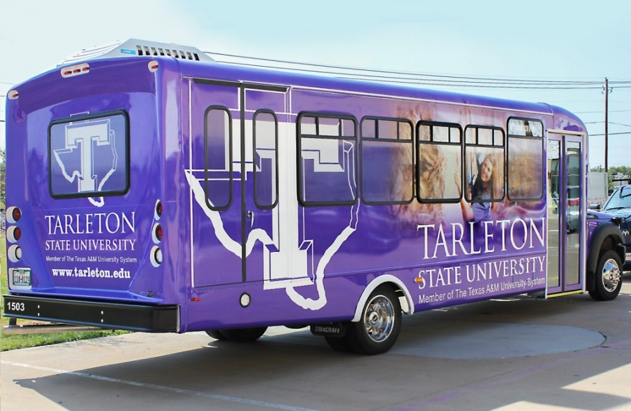 Custom University Bus Wraps